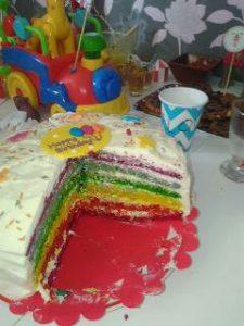 Gâteau rainbow cake