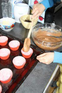 remplissage cupcakes