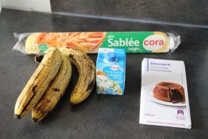 ingrédients tarte banane chocolat