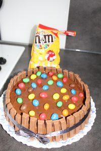 m&m's gravity cake