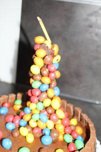 chute m&m's gravity cake