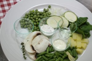 composition rectte legumes verts champignon pots bledina