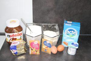 muffins coeur nutella