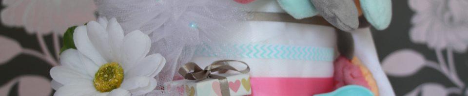 gâteau de couches francoise vermorel diaper cakes gender reveal party baby shower