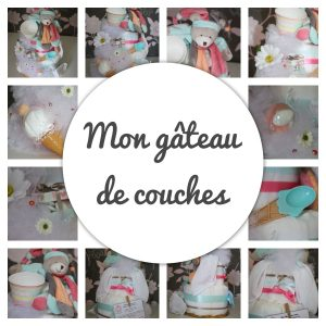 gateau de couches francoise vermorel diaper cakes gender reveal party baby shower