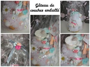 gâteau de couches francoise vermorel diaper cakes gender reveal party baby shower
