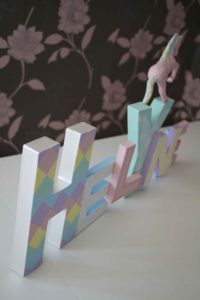 baby wyn lettres décoratives licorne