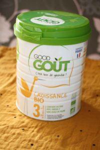 lait de croissance gout gout