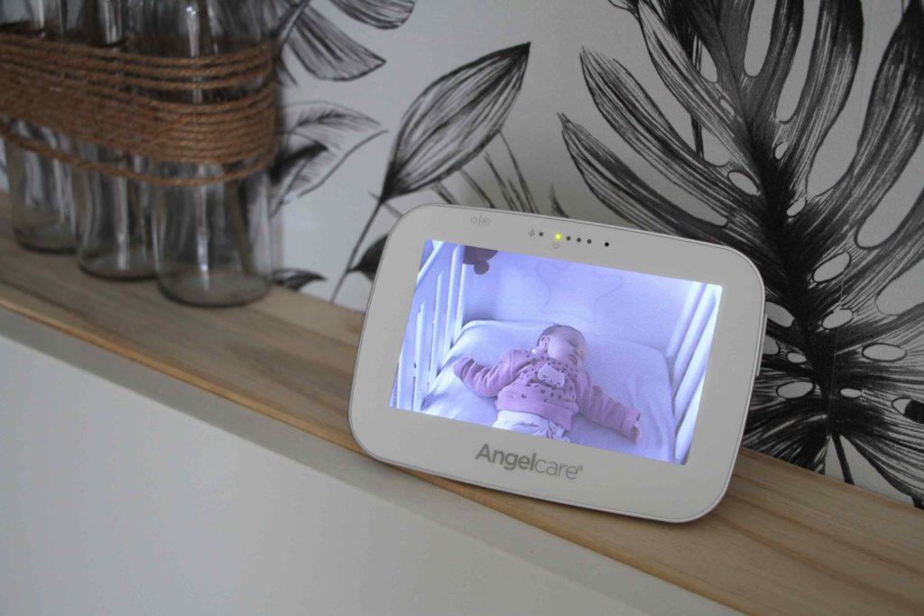 babyphone video avec détecteur de mouvements ac527 angelcare